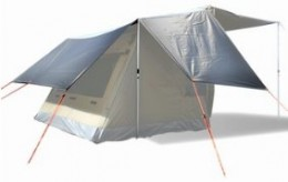 oztent rv4 fly oztent fly sheet oztent rv3 fly  sc 1 st  4x4 Overlander & The Solar Reflective Fly gives privacy to your Oztent if you want ...