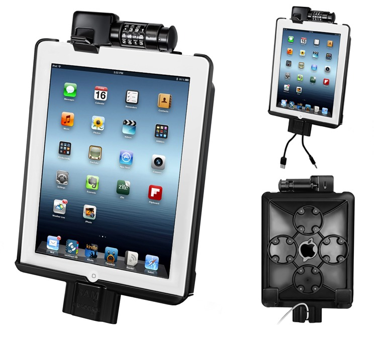 ram locking ipad mount