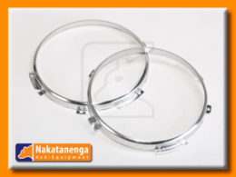 Defender stainless steel headlamp rim