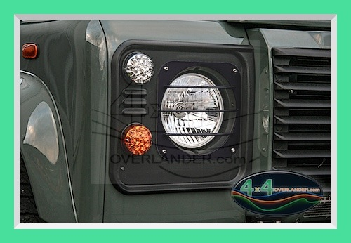 Defender Headlight Guards Stainless 4x4overlander