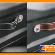 Defender leather door handle